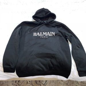 Balmain black Sweatshirt Hoodie size xl